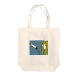 自撮りガール Tote bags