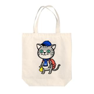にゃんサポ Tote bags