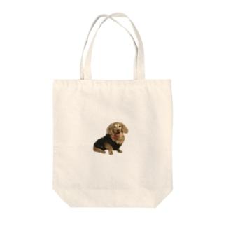 きりとられたワンコ Tote bags