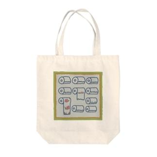 トイレット柄 Tote bags