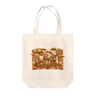 珈琲水彩〖月の向こう光の庭〗 Tote bags