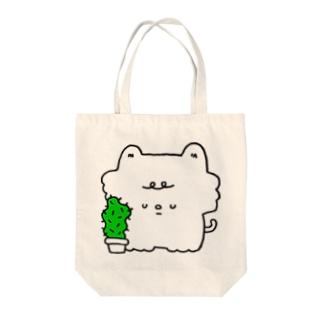 サボテンとネコ Tote bags