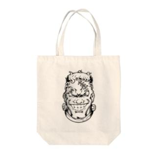 フランケン FACE【モノクロ線画】 Tote bags