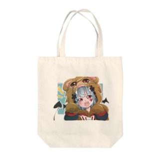 パーカー女子 Tote bags