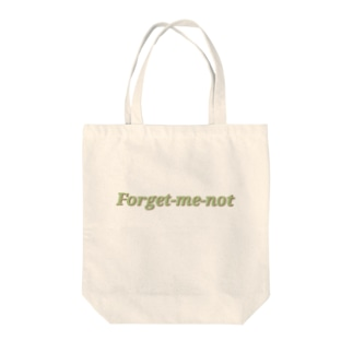 Forget-me-not(green) Tote bags