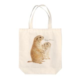 プレーリードッグ Tote bags