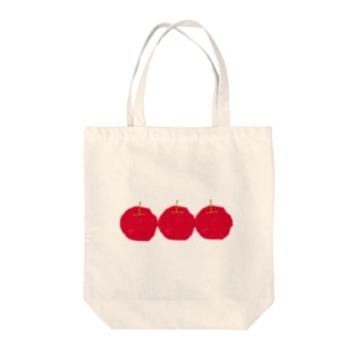 りんごリンゴりんご(赤) Tote bags