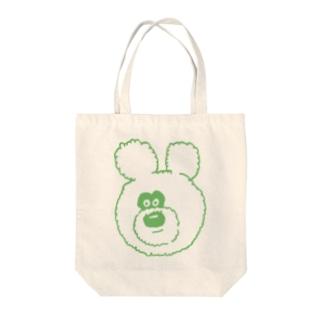 りのくまちゃん グリーンアップる Tote bags