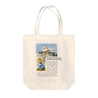 『 鏡の国のアリス 』ハンプティ・ダンプティとアリス Tote bags