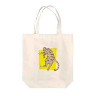 ぐっすり猫 Tote bags