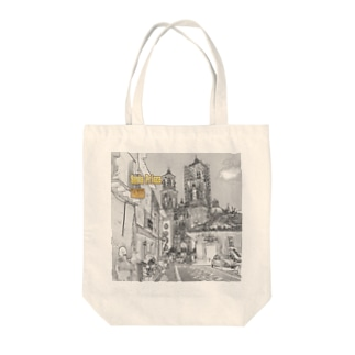 CG絵画:タスコのサンタ・プリスカ教会 CG art: Santa Prisca / Taxco / Mexico Tote bags