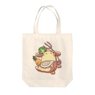 マカロニグラタンのCOOK_RABBIT Tote bags