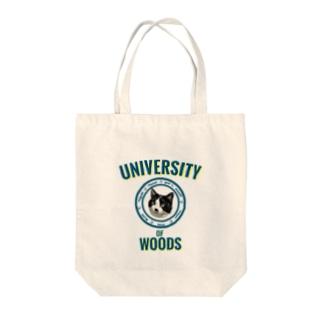WOODS UNIVERSITY Tote bags