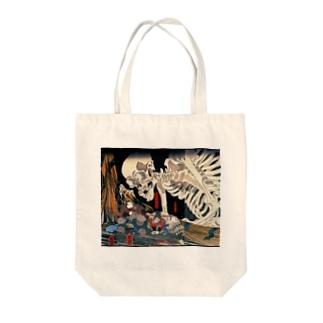 歌川国芳『 相馬の古内裏 』 Tote bags