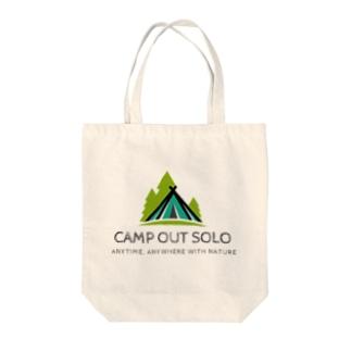 ソロキャンパーロゴ Tote bags