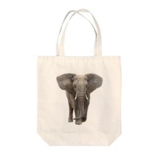 アフリカゾウ Tote bags