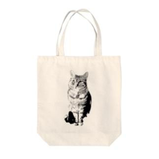 かりんちゃんは待ってる Tote bags