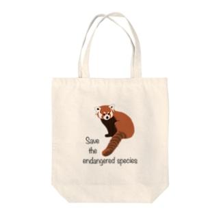 レッサーパンダ 絶滅危惧種を守ろう Tote Bag