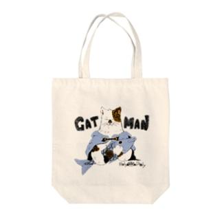 猫男 Tote bags