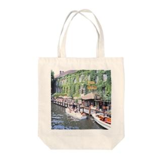 ベルギー:ブリュージュの運河 Bergie: Canal of Bruges Tote bags