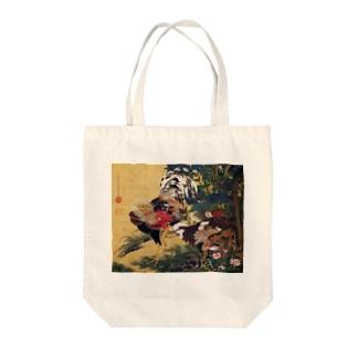 伊藤若冲『 紫陽花双鶏図 』 Tote bags