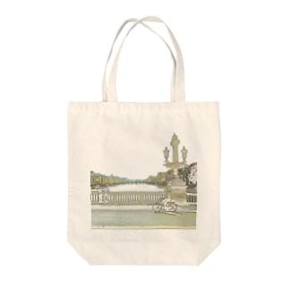 CG絵画:アムステルダムの運河 CG art: Canal in Amsterdam Tote bags