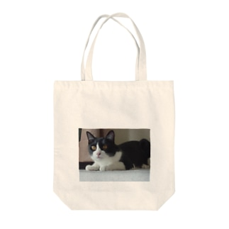 りんごさん、ふせ(笑) Tote bags