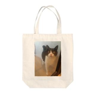 ガラスドア越しのりんごさん Tote bags
