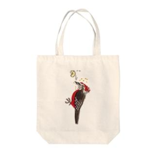 nonaの奄美の鳥オーストンオオアカゲラくん Tote bags