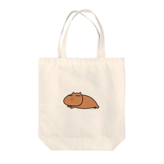 いい奈さんワークスのぐんにゃりカピバラ Tote bags