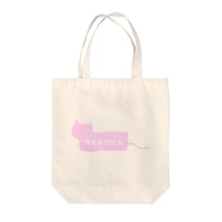 猫派ボックスロゴ風 Tote bags