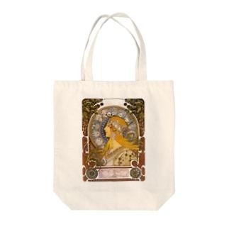 黄道十二宮  (ZODIAQUE) アルフォンス ミュシャ Tote bags