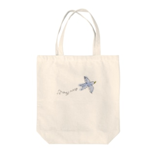 Happy Blue Birdをいつも側に。 Tote bags
