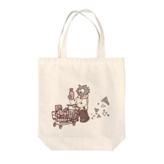 ショッピングウニくん Tote bags