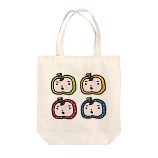 りんごまんず4☆ Tote bags