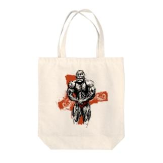 ボディビルディングモンキー Tote bags