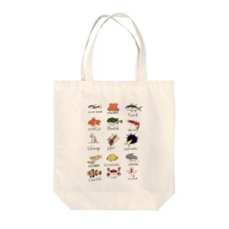 お魚図鑑 Tote bags