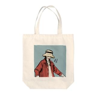 ネガティヴちゃん Tote bags