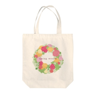 spring wreath Tote bags