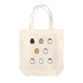 ふっくら猫 Tote bags