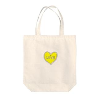 きいろいハートiPhone Tote bags