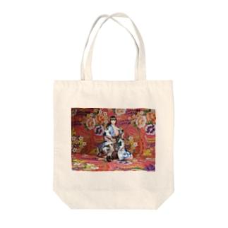 ドール写真:二胡を弾く美少女 Doll picture: Brunette Kimono girl with Erhu Tote bags