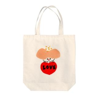 hanaco love Tote bags