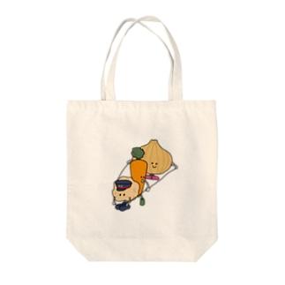 畑発カレー行き Tote bags