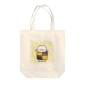 ぶるっくま〜スクエアクッキー〜 Tote bags