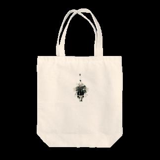 黒柴しーばの角っ子機械 Tote bags