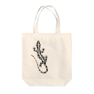 とかげちょろり(上向き) Tote bags