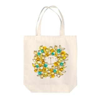 お花畑とネコ Tote bags