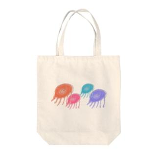 くらげクラゲ Tote bags
