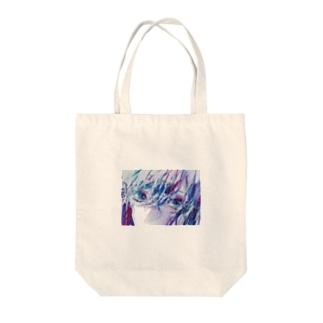 まばたき Tote bags
